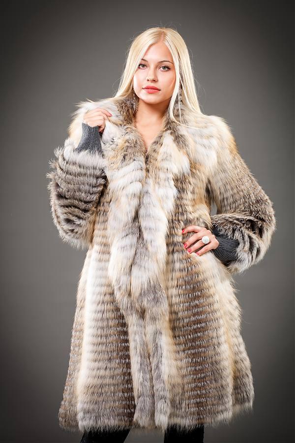 Купить шубу из вязаного меха в москве